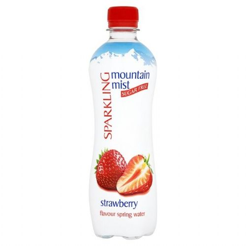 Mountain Mist Sparkling Sugar Free Strawberry Flavour Spring Water 500ml